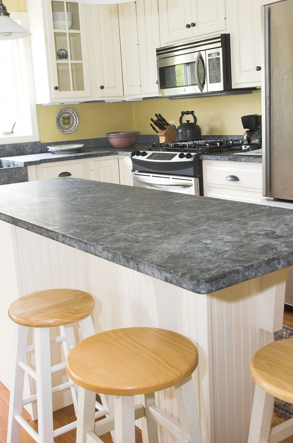 looking slate countertops pros and cons clean and care tips