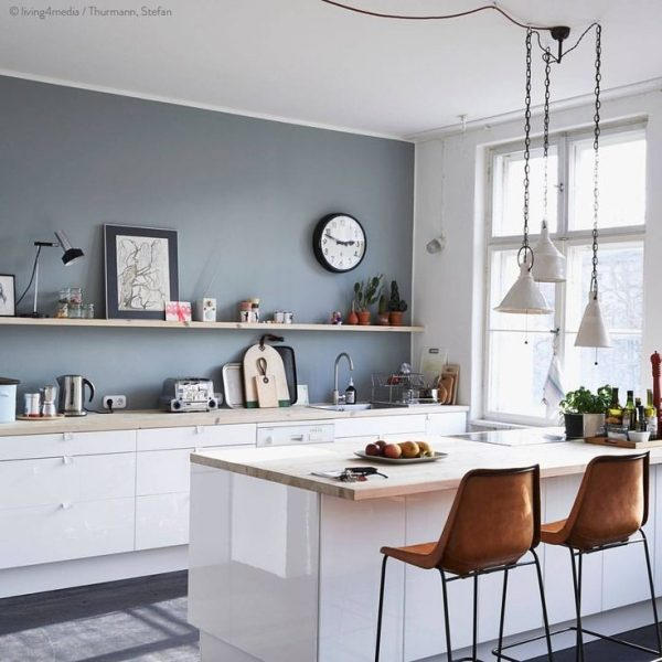 Perfect 25 Best Collection Of Wall Color For Kitchen With White Medium