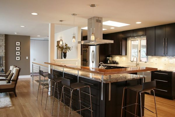Perfect Open Kitchen Floor Plans With Islandshome Design And Medium