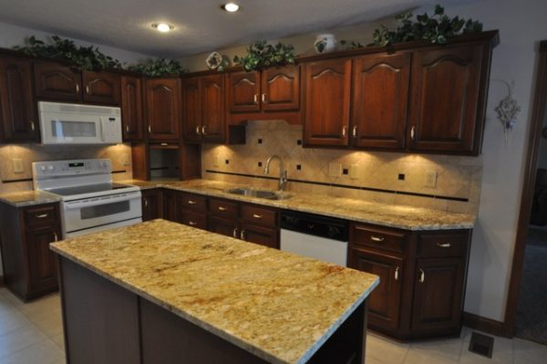 Popular Granite Countertops And Tile Backsplash Ideas Eclectic Medium