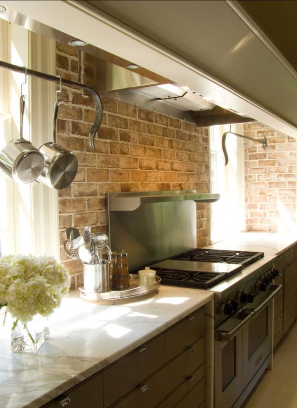 Search Exiting Brick Wall Kitchen Backsplash Rustic Interior Medium