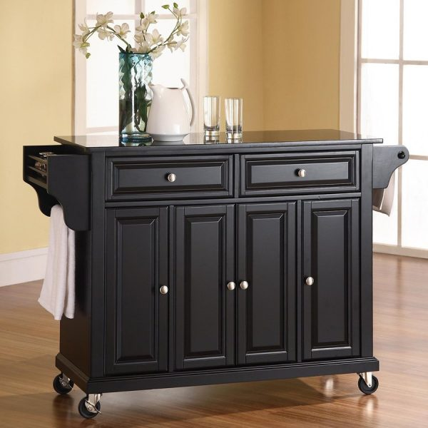 shop crosley furniture black craftsman kitchen island at medium