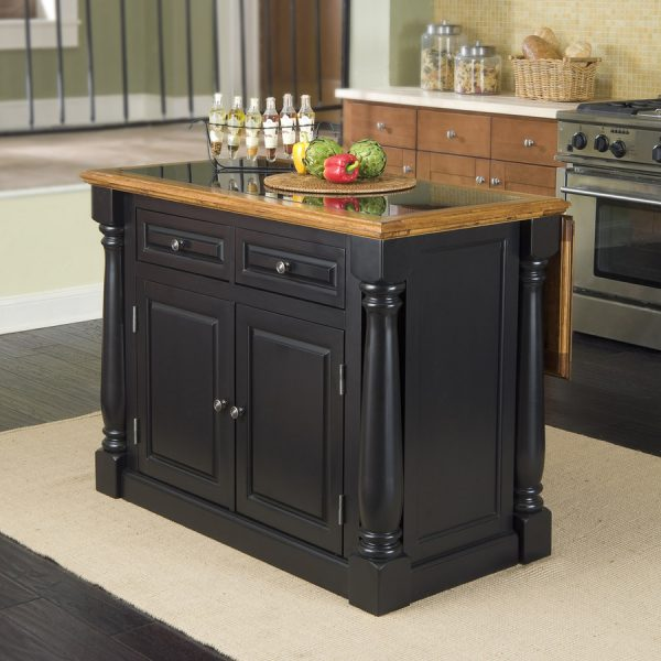 Shop Home Styles Black Midcentury Kitchen Islands At Lowescom Medium