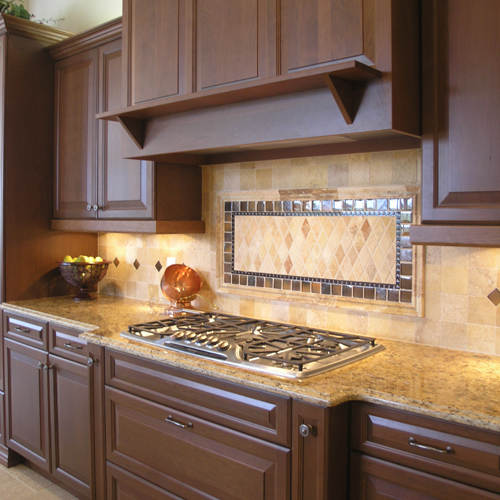Simply Santa Cecilia Granite With Dark Cabinets Backsplash Ideas Medium