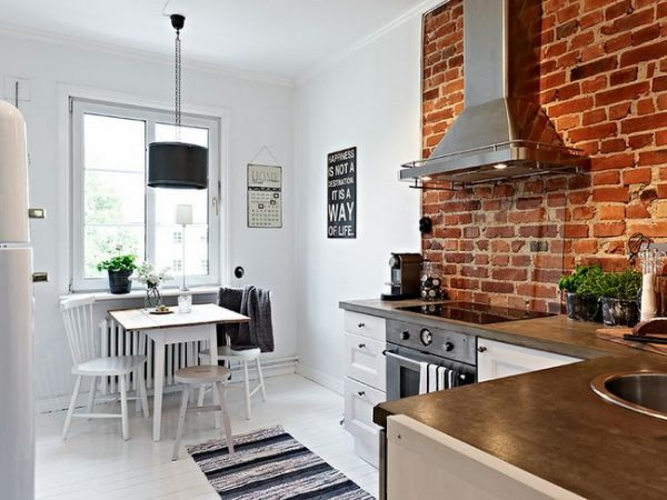Style 28 Exposed Brick Wall Kitchen Design Ideas Home Tweaks Medium