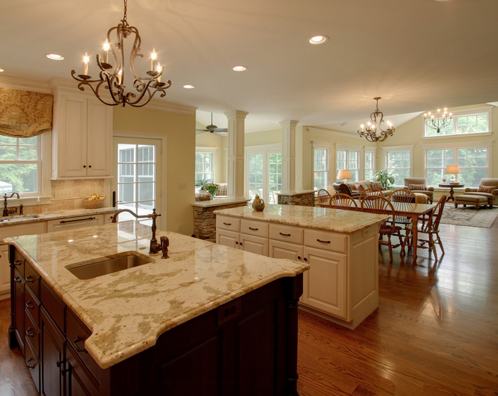 style open concept kitchen and living room designs decor