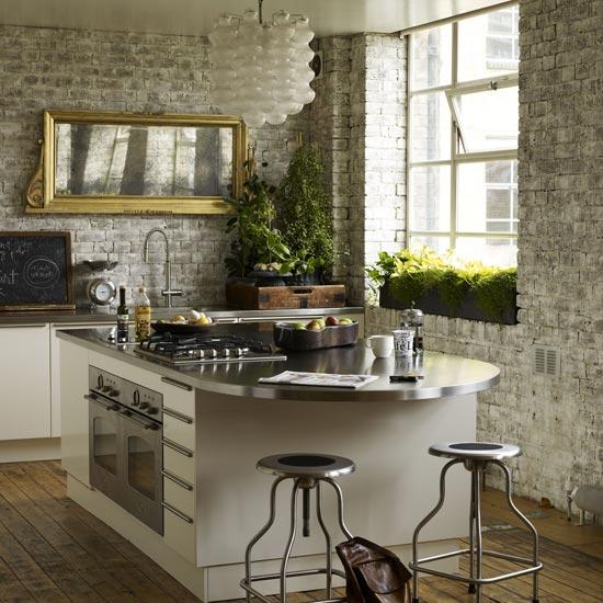 Tips 10 Fab Kitchen Ideas Using Brick Walls Decoholic Medium