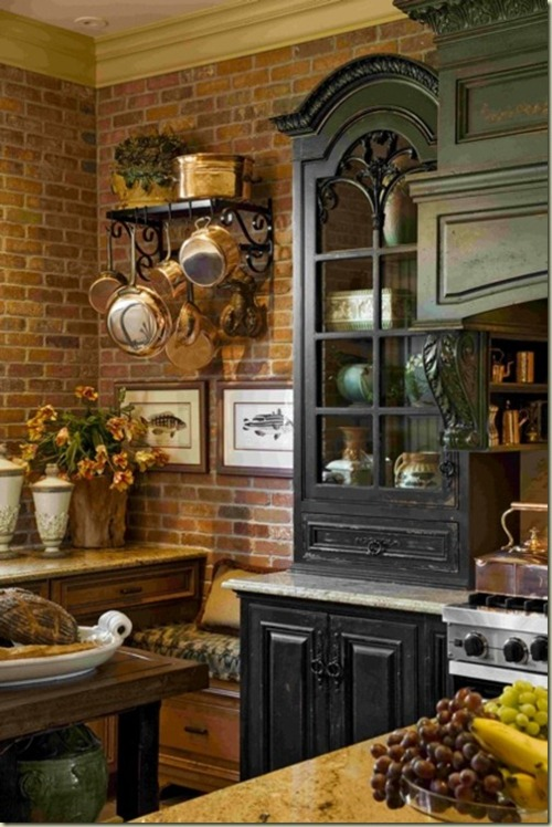 Tips Traditional Kitchen With Brick Walls 2013 Ideas Medium