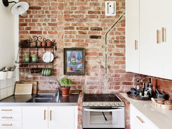Top Brick Wall Kitchen Coco Lapine Designcoco Lapine Design Medium