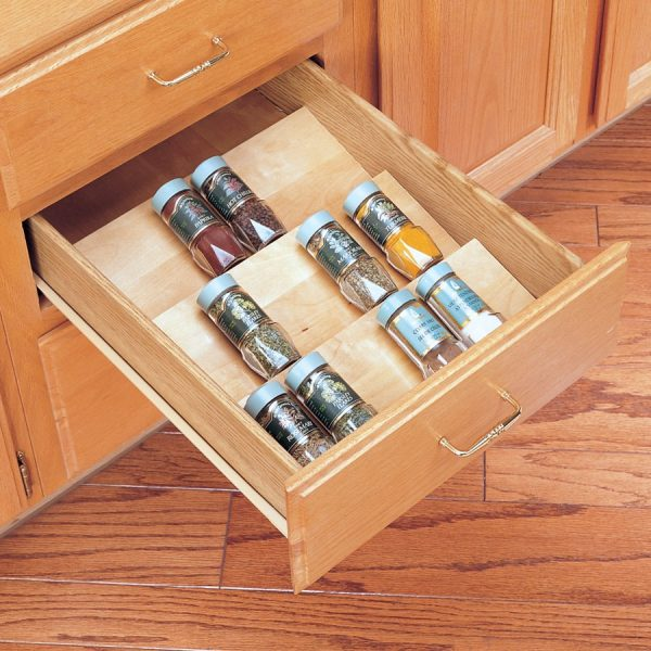 Top Revashelf Wood Spice Drawer Insert16w X 1975l 4sdi Medium