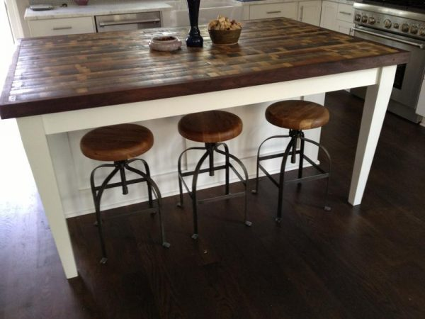 White Reclaimed Wood Kitchen Island Ideas Rilane Medium