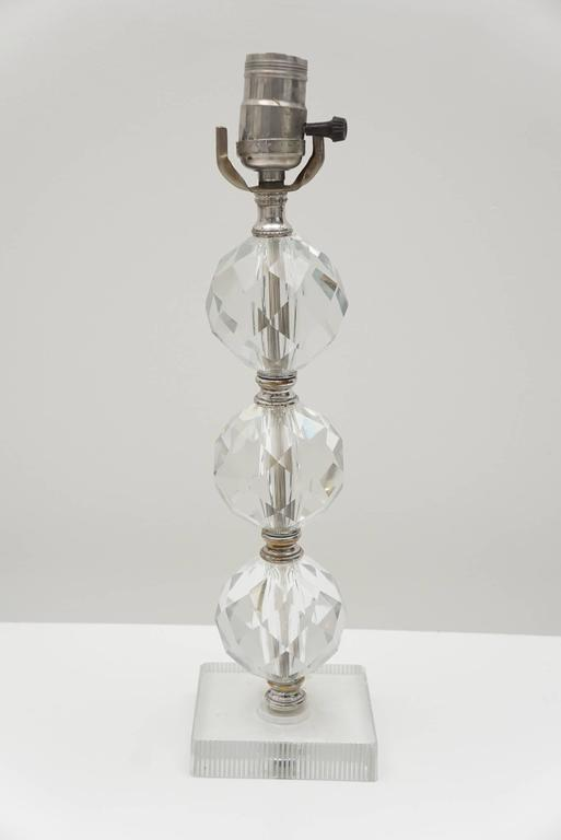 Example Of A Crystal Spheres Table Lamp For Sale At 1stdibs Medium