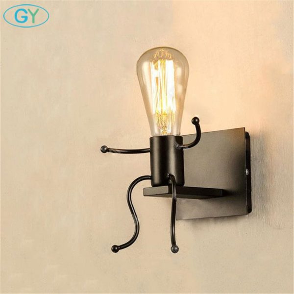 Get American Country Vintage Wrought Iron Wall Lamp Bedroom Medium