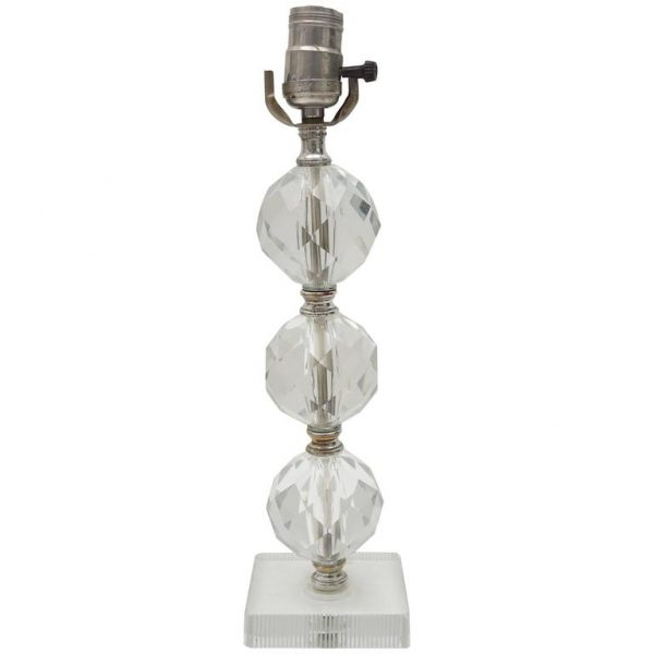 Perfect Crystal Spheres Table Lamp For Sale At 1stdibs Medium