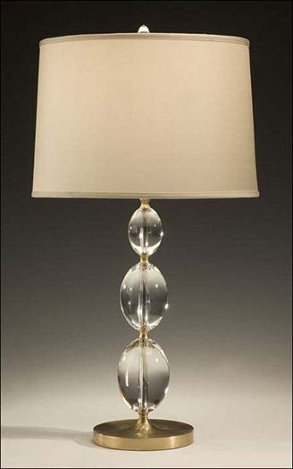 Perfect Four Italian Solid Crystal Sphere Table Lamps For Sale At Medium