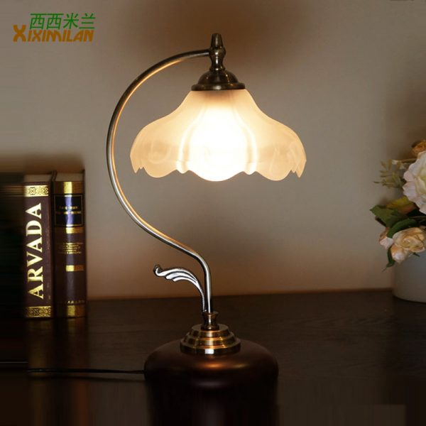 Style Cissy Fashion Table Lamp Wrought Iron Bedroom Bedside Lamp Medium