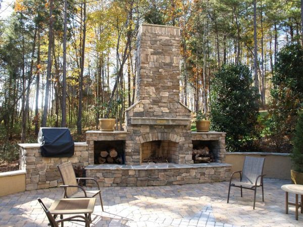 Best Brick Outdoor Fireplace Plans Freefireplace Design Ideas Medium