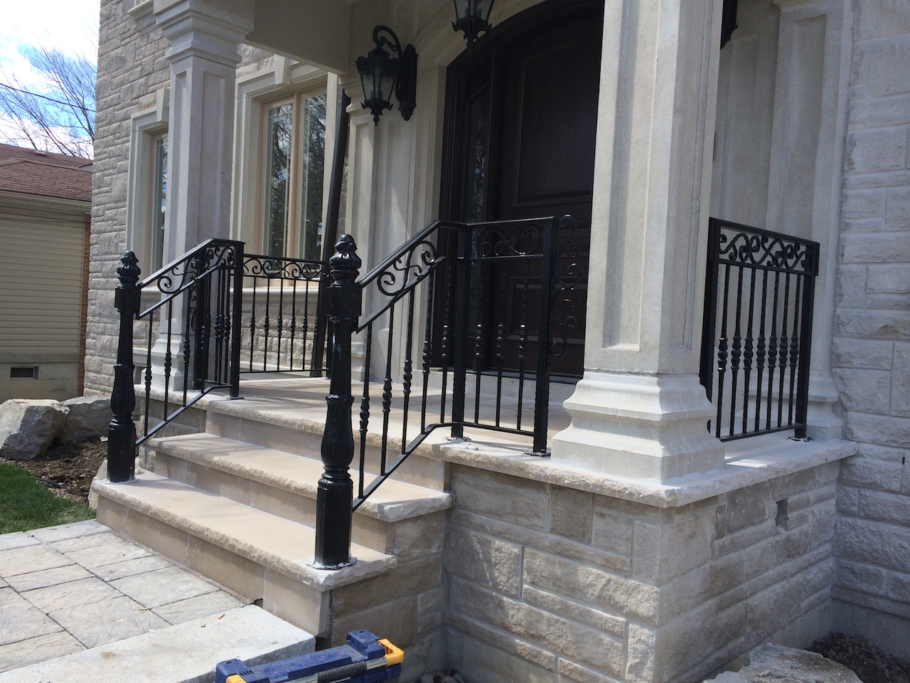 best wrought iron handrails stairs railings curving away from