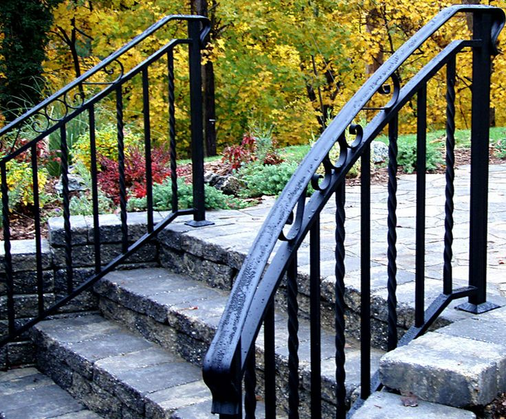 bore amazing railings for outdoor stairs  10 wrought iron