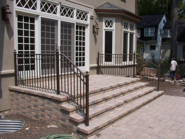 Bore Steel Handrail Cost Exterior Wrought Iron Stair Railing Medium