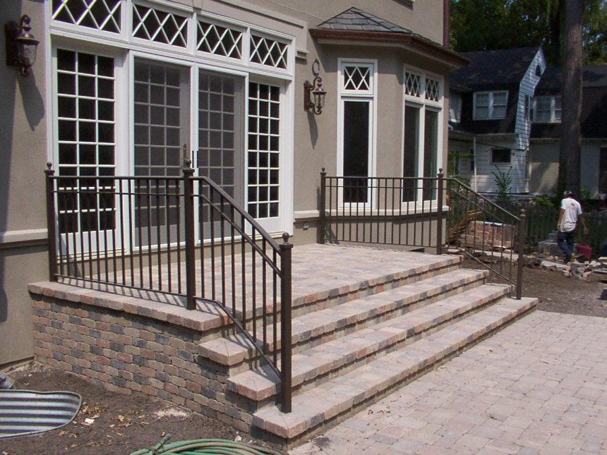 bore steel handrail cost exterior wrought iron stair railing