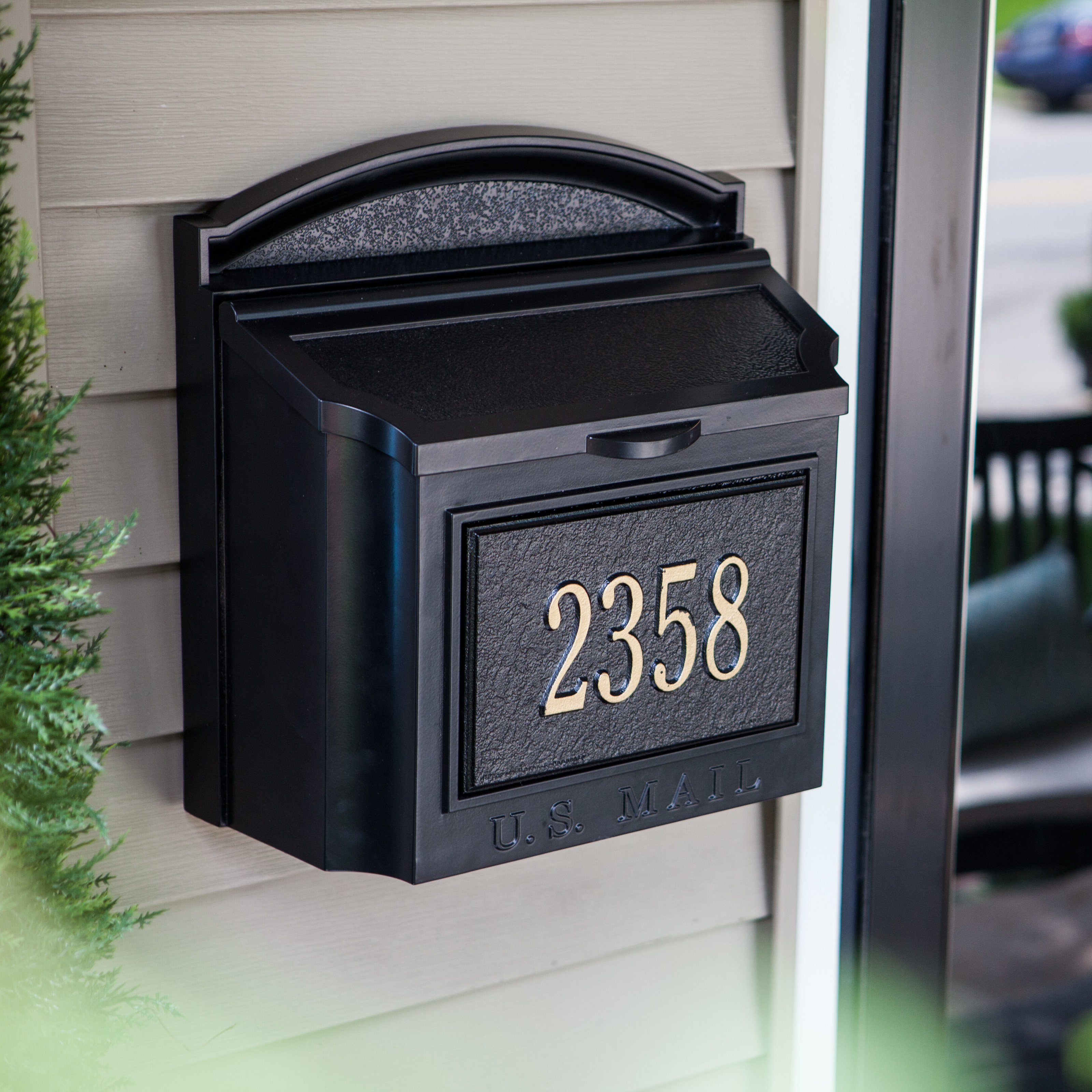 bore whitehall personalized wall mount mailbox mailboxes at