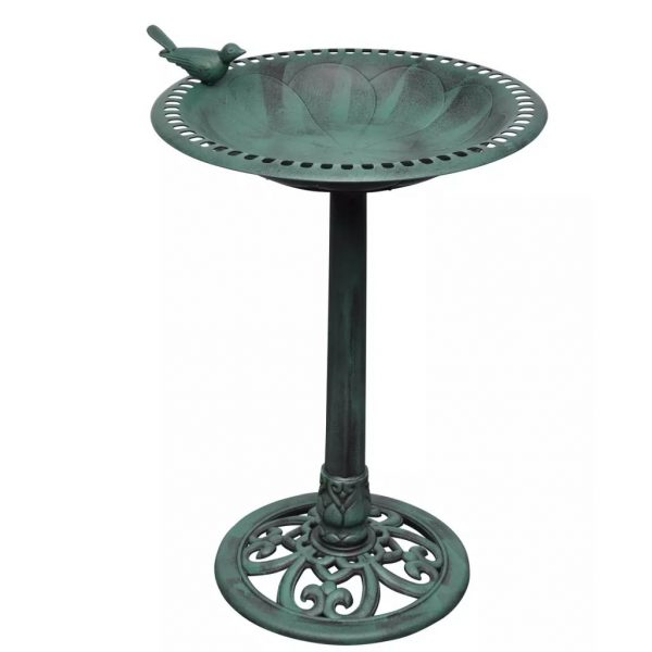 Clever Bird Bath With Decorative Bird Vidaxlcomau Medium