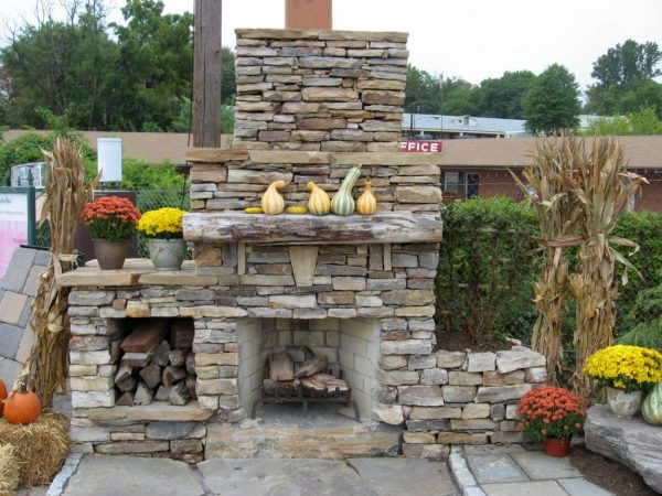 Clever Stack Stone Fireplaces For Outdoor Medium