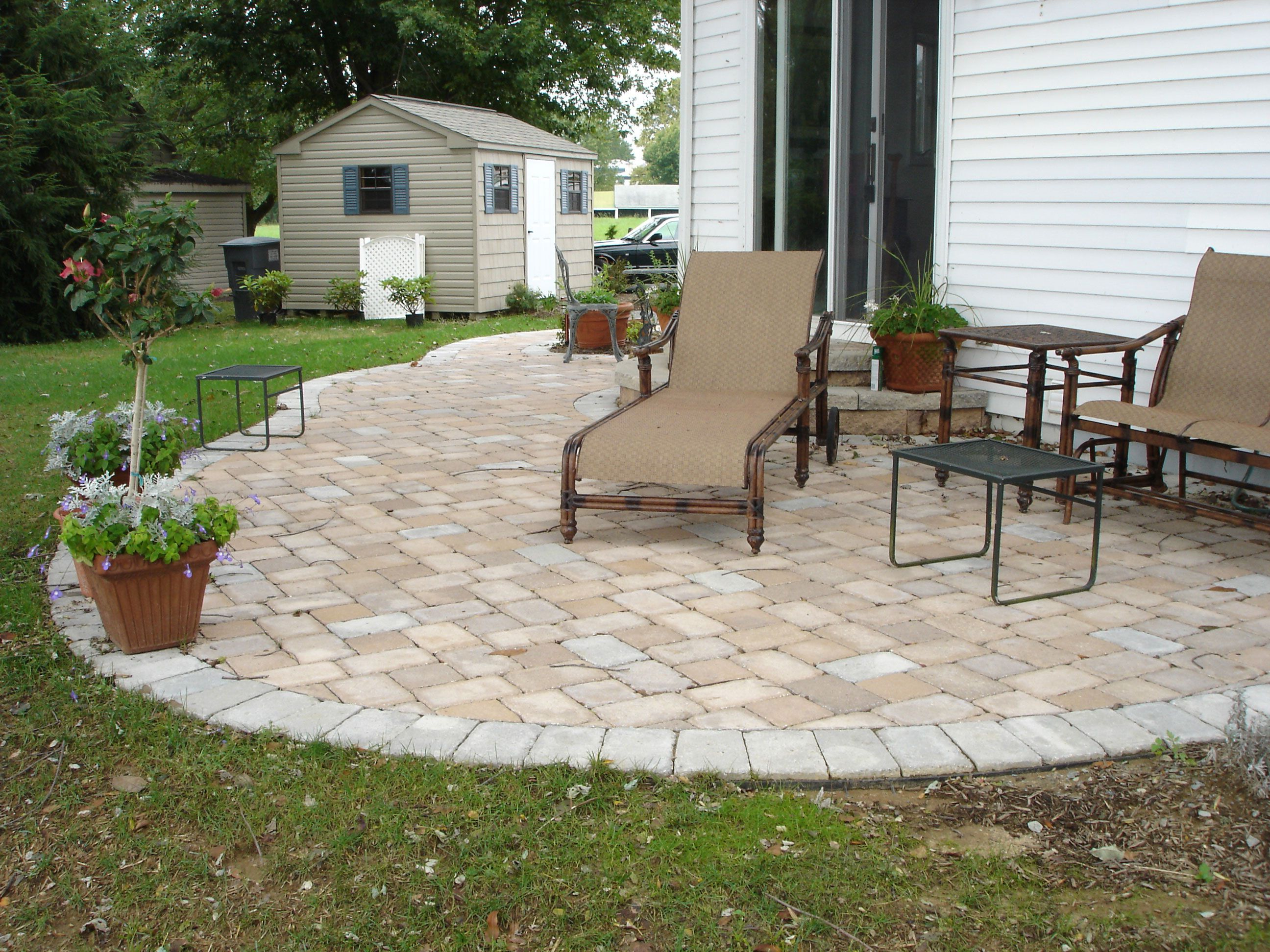 collection paver patio ideas with useful function in stylish designs