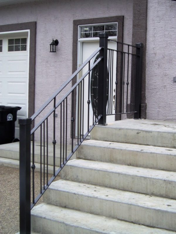 Example Of A Fine Wrought Iron Stair Railinglatest Door   Stair Design Medium