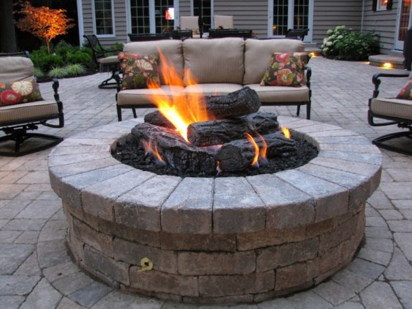 Gas Fire Pits For Outside Bistrodre Porch And Landscape Medium
