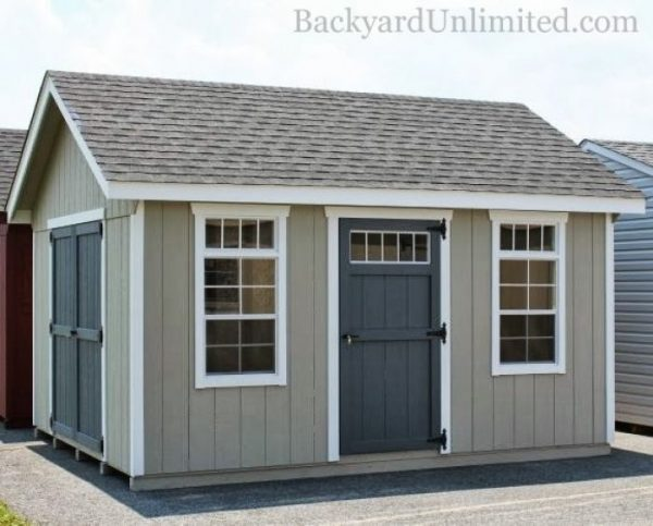 Innovative 12x14 Garden Shed With Additional Single Transom Door Medium