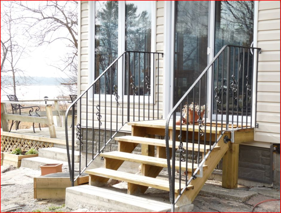 innovative marvelous railings for outdoor stairs  11 wrought iron