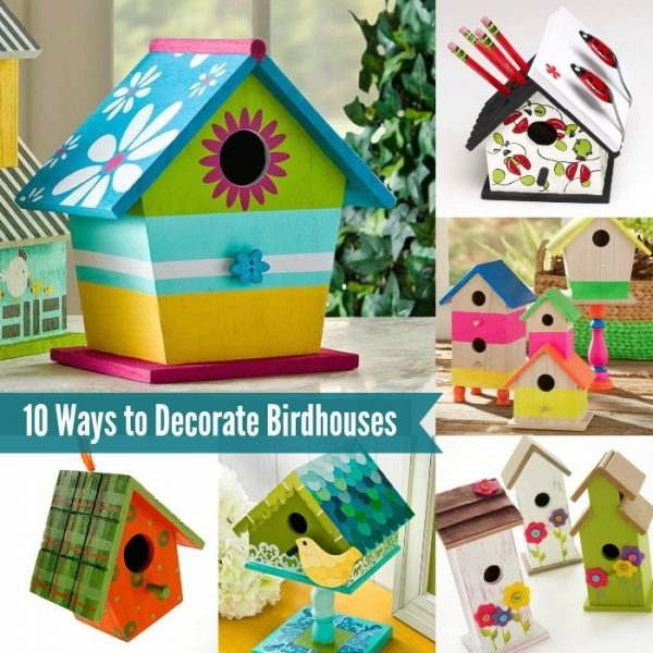 Inspirational 10 Fun Ways To Decorate Wood Birdhousesebay Medium