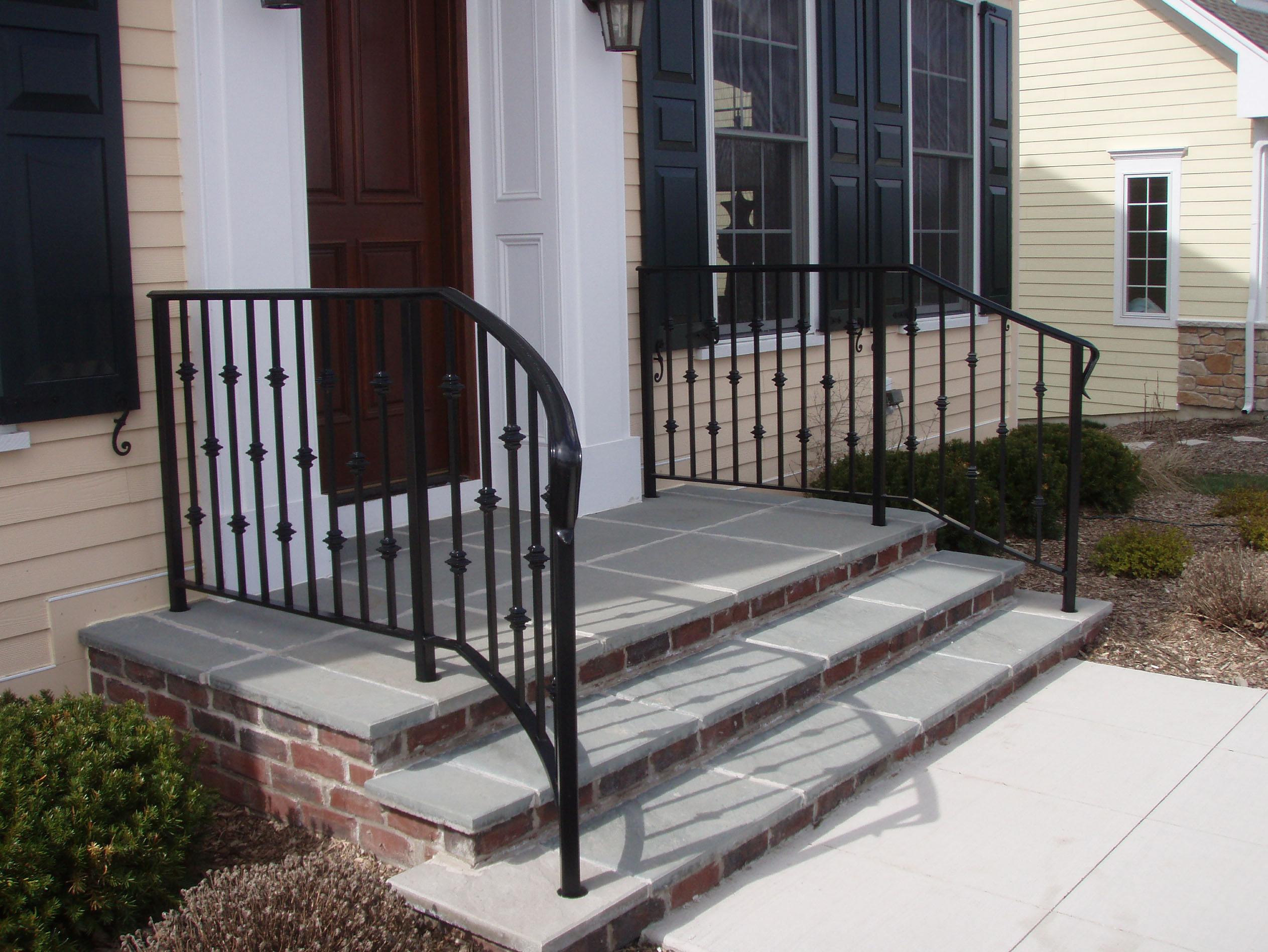 inspirational wrought iron handrails stairs railings curving away from