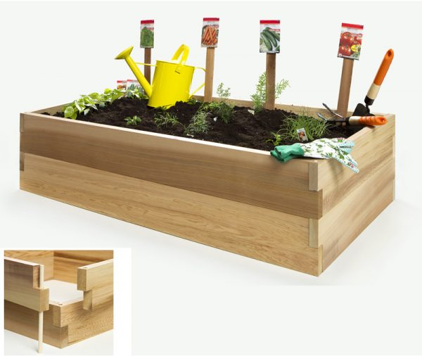Looking Raised Garden Vegetable Boxes By All Things Cedar Planter Kits Medium