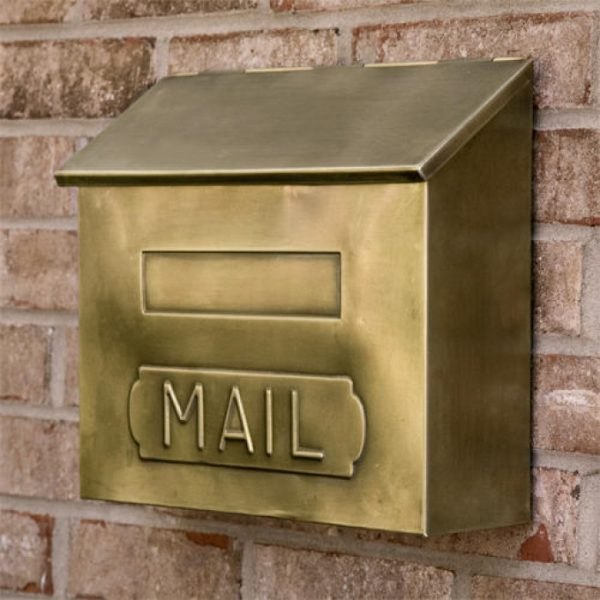 Our Favorite Horizontal Mail Wallmount Brass Mailbox Antique Brass Medium