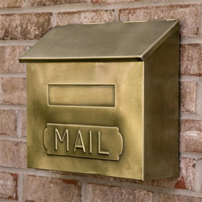 our favorite horizontal mail wallmount brass mailbox antique brass
