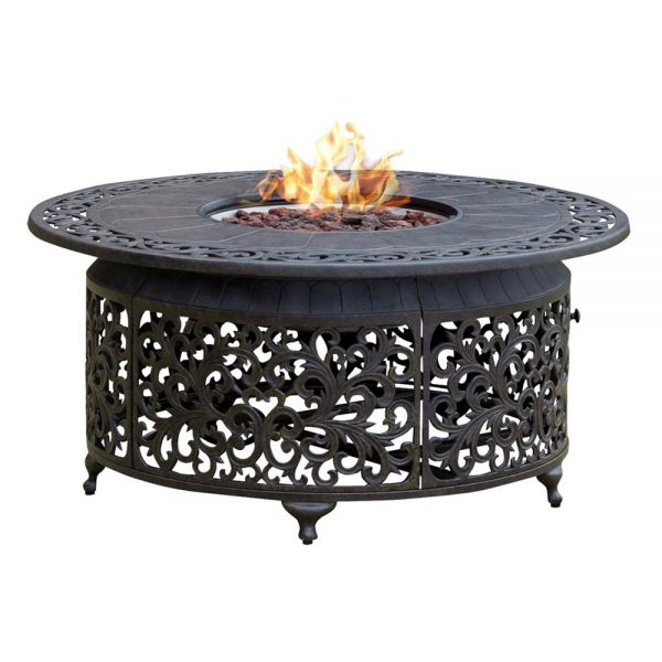 Paramount Round Outdoor Propane Fire Pit Tablelowes Canada Medium