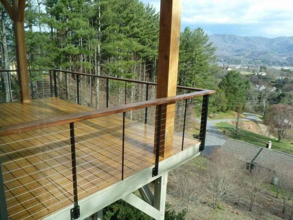 Perfect Ithaca Cable Deck Railing Biltmore Lake Nc Keuka Studios Medium
