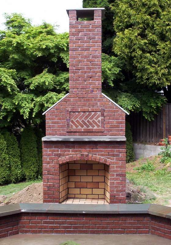 Search Best 25  Outdoor Fireplace Brick Ideas On Medium