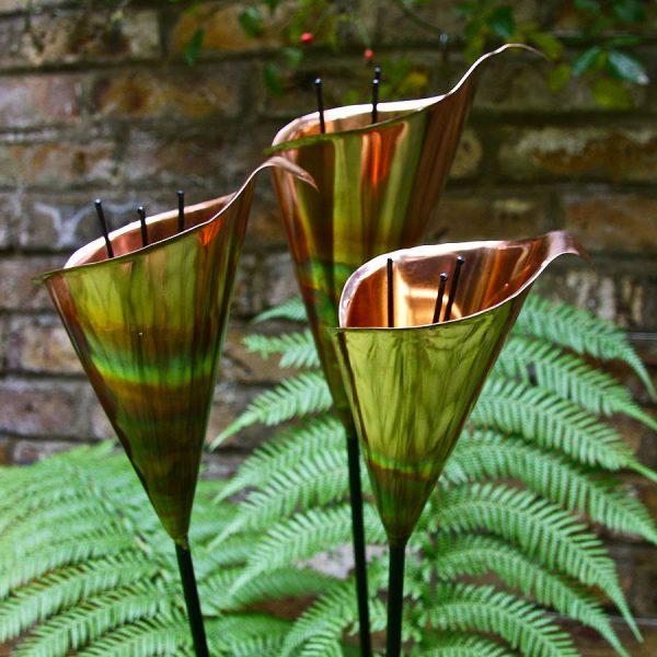 Search Copper Lily Garden Sculpture By London Garden Trading Medium