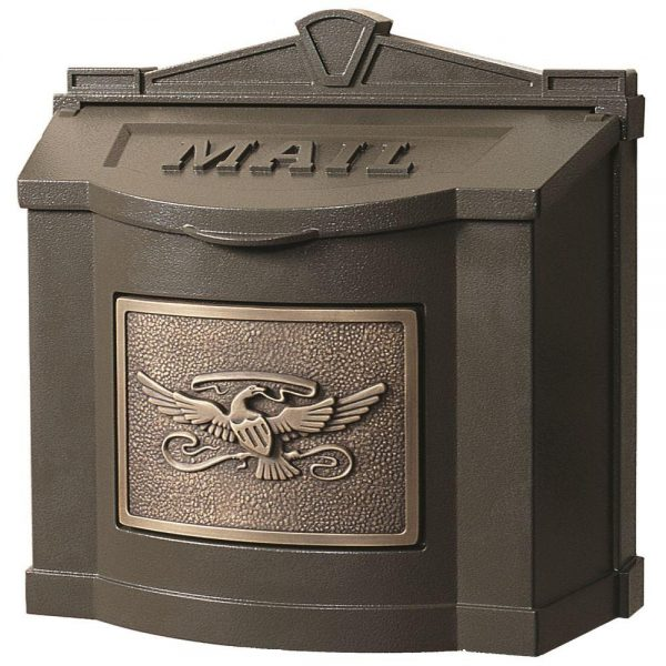 Simply Gaines Manufacturing Eagle Accent Wall Mount Mailbox Medium