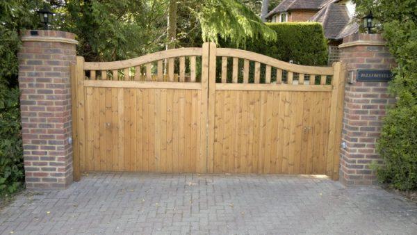 Simply Wooden Driveway Gates Designsjoy Studio Design Gallery Medium