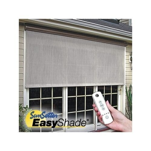Style 12 Sunsetter Motorized Easyshade Solar Screen Outdoor Medium