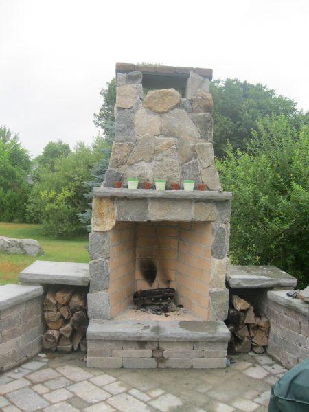 Style Diy Brick Outdoor Fireplace With Rustic Outdoor Brick Medium