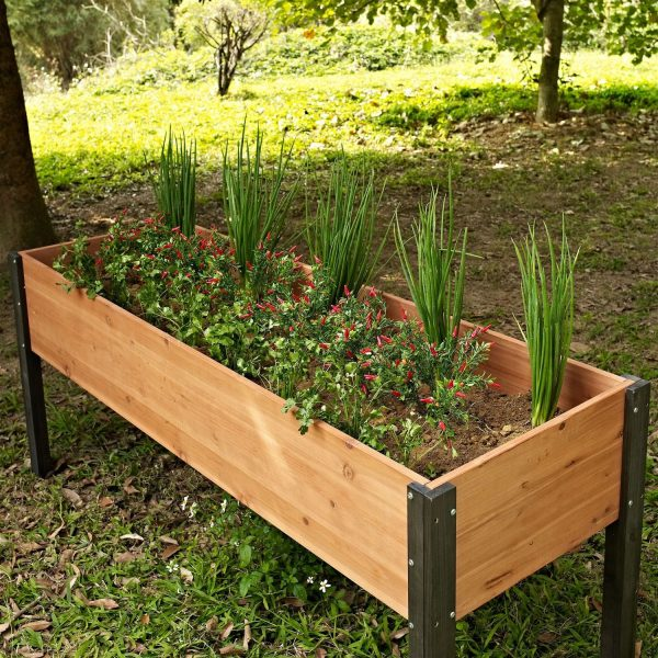 Style Elevated Outdoor Raised Garden Bed Planter Box 70 X 24 X Medium