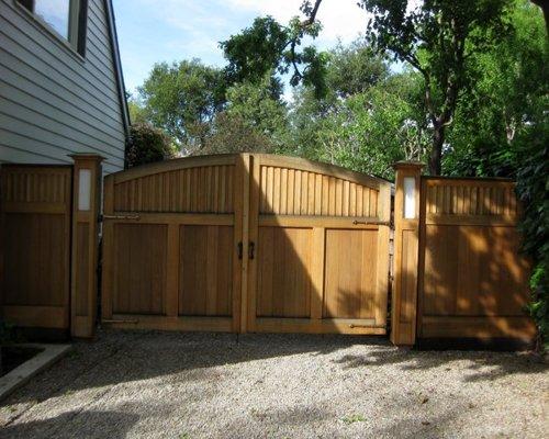 Style Wooden Driveway Gateshouzz Medium