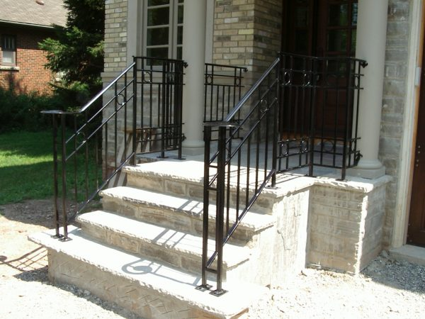 Tips Durable Outdoor Wrought Iron Stair Railing For Deck Medium