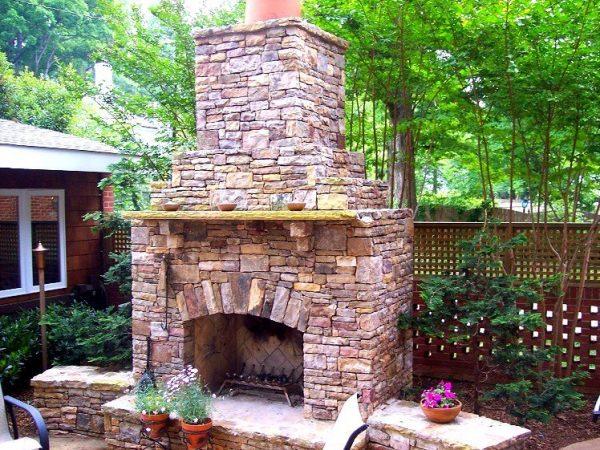Top 20 Beautiful Outdoor Stone Fireplace Designs Medium